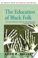 the education of black folk